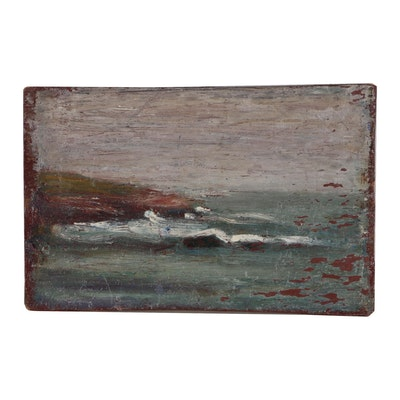 Will Hutchins Seascape Oil Painting, Early 20th Century