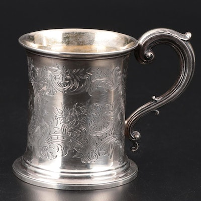 Widdowson & Veale Silver Plate Hand-Chased Beer Mug