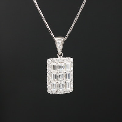 Platinum 1.16 CTW Diamond Pendant Necklace