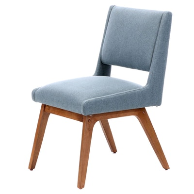 E & E Co. Ltd. Mid Century Modern Style Upholstered Side Chair