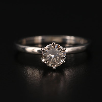 14K 0.57 CT Diamond Solitaire Ring