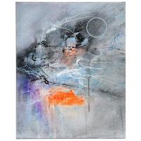 """David Senecal Acrylic Painting """"040918"""""""