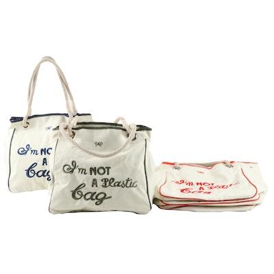 "Anya Hindmarch ""I'm Not a Plastic Bag"" Canvas Totes"