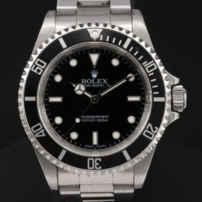 Rolex Submariner No Date 14060M Stainless Steel Automatic Wristwatch
