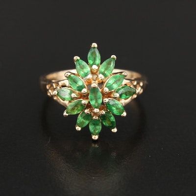 14K Gold Tsavorite Ring