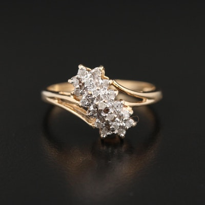 10K Gold Diamond Bypass Ring