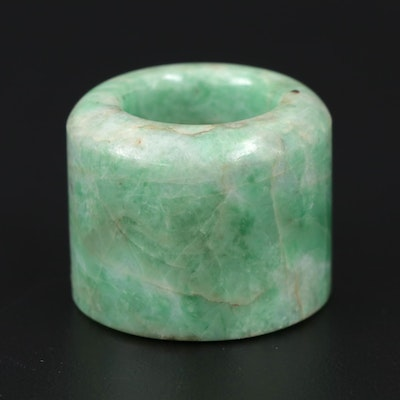 Chinese Dyed Jadeite Archer's Ring