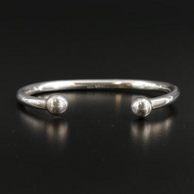 Sterling Silver Ball Cuff Bracelet
