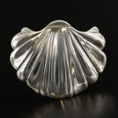Sterling Silver Scallop Shell Converter Brooch
