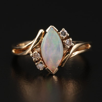 Town & Country 14K Opal and Diamond Ring