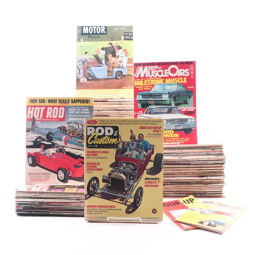 """Rod & Custom"", ""Muscle Cars"", ""Hop-Up"" and Other Automotive Magazines"