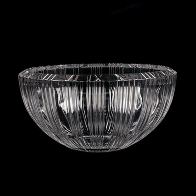 Tiffany & Co. Crystal Bowl with Raised Roman Numerals