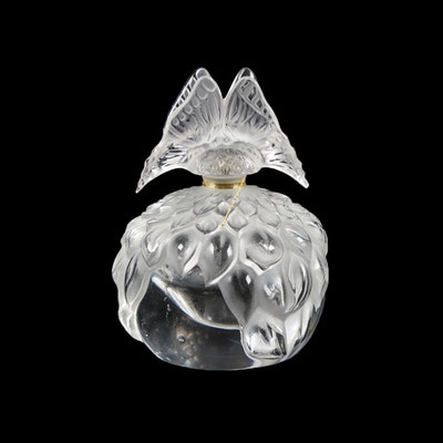 "Lalique Crystal ""Butterfly"" Perfume Bottle"