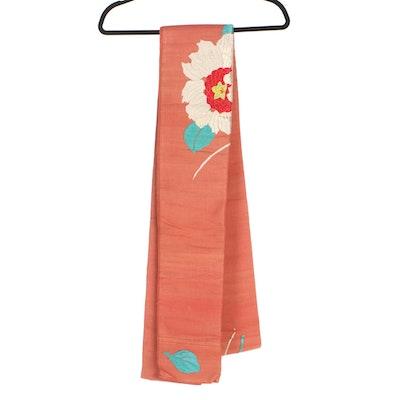 Japanese Embroidered Nagoya Obi, Late Taishō to Early Shōwa Period