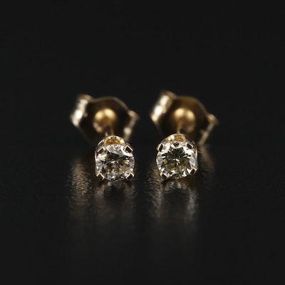 14K Gold 0.20 CTW Diamond Stud Earrings