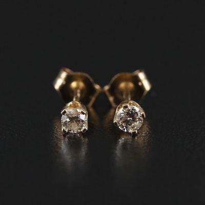 14K Gold 0.16 CTW Diamond Stud Earrings