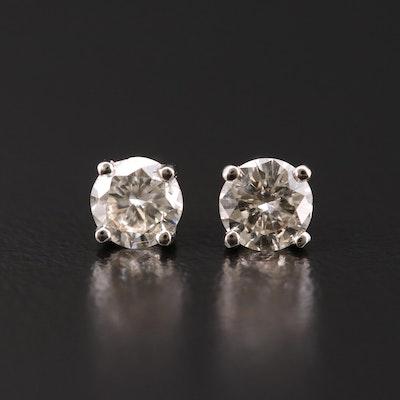 14K 0.92 CTW Diamond Studs