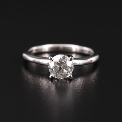 14K Gold 1.01 CT Diamond Solitaire Ring
