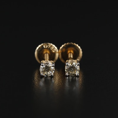 14K Gold 0.31 CTW Diamond Stud Earrings