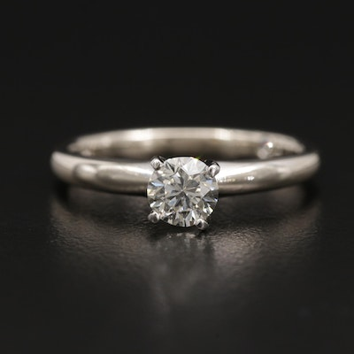 """The Leo"" 14K Diamond Ring with Platinum Accent"