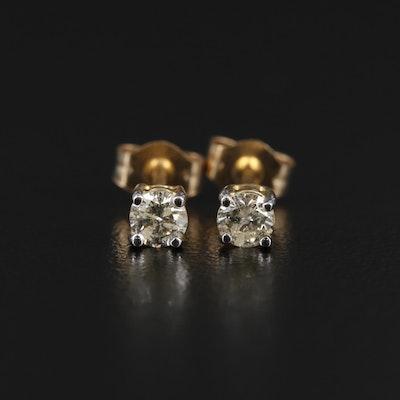 14K 0.29 CTW Diamond Studs