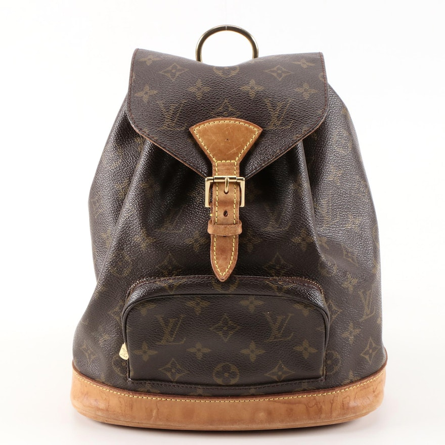 Louis Vuitton Montsouris Backpack in Monogram Canvas and Vachetta Leather