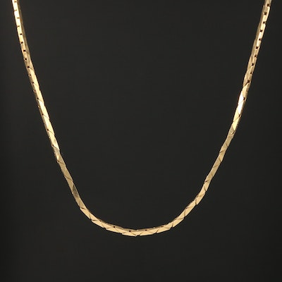 14K Yellow Gold Bismark Chain