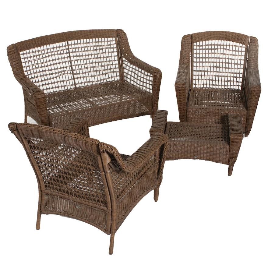 Hampton Bay Park Meadows Wicker Patio Furniture Ebth