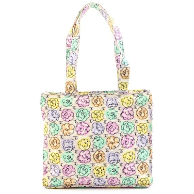 Chanel Multicolor Floral Print Camellia Tote Bag