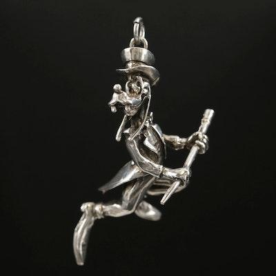 Disney Sterling Silver Goofy Pendant