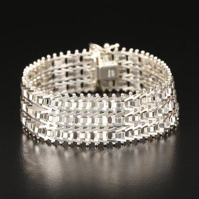 Milor Sterling Silver Riccio Link Bracelet