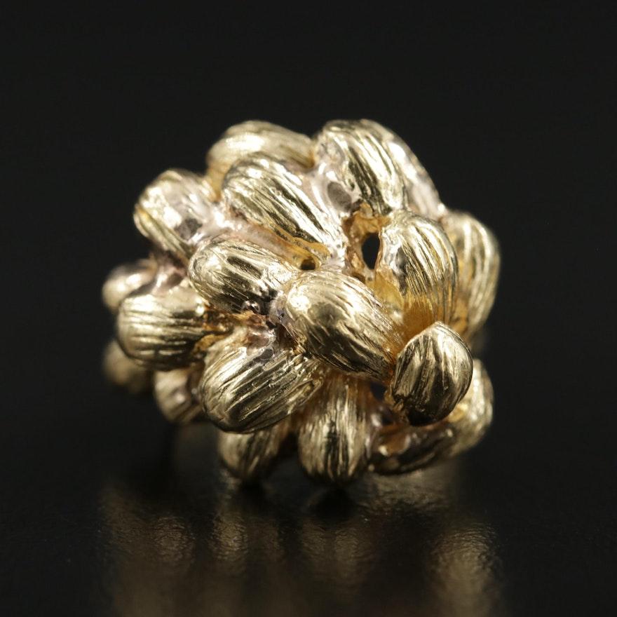 18K Yellow Gold Layered Ring