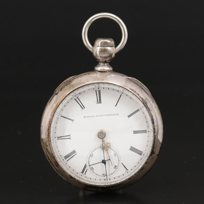 1883 Elgin National Watch Co. Coin Silver Pocket Watch