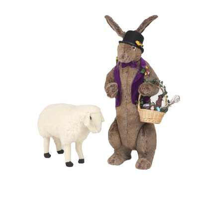 Ditz Designs by The Hen House Easter Décor Including Large Easter Bunny