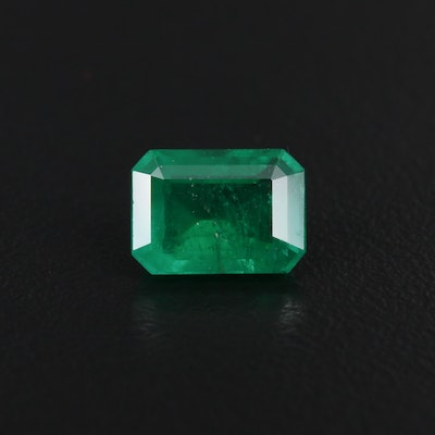 Loose 2.60 CT Brazilian Emerald with GIA Report