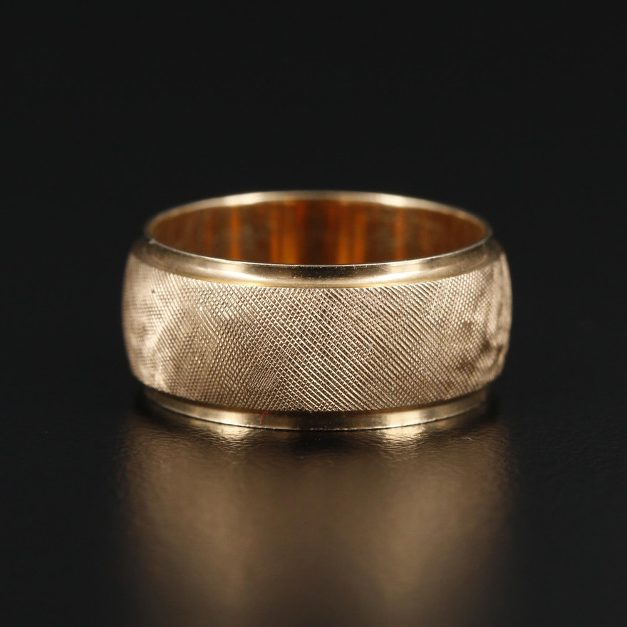 14K Gold Textured Band