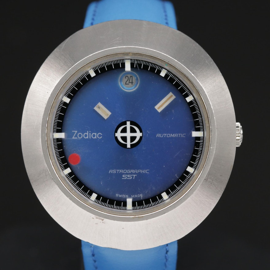 Zodiac Astrographic SST Stainless Steel Automatic Wristwatch, Vintage