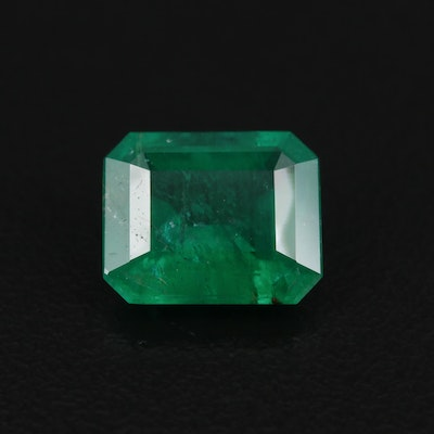 Loose 2.76 CT Brazilian Emerald with GIA Report