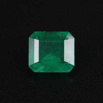 Loose 3.48 CT Brazilian Emerald with GIA Report
