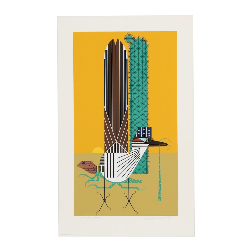 """Charley Harper Serigraph """"Tall Tail"""""""