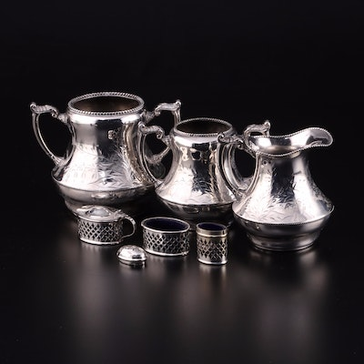 "Queen City Silver Co. ""Cincinnatus"" Silver Plate Creamer and Sugars and More"