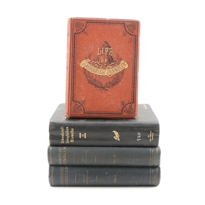 "1880 First Edition ""Zachariah Chandler"" with Other Michigan Related Volumes"