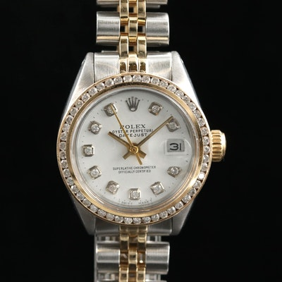 Rolex Datejust 14K Gold and Stainless Steel Automatic Wristwatch, Vintage