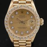1979 Rolex Datejust 18K Gold and Diamonds Automatic Wristwatch