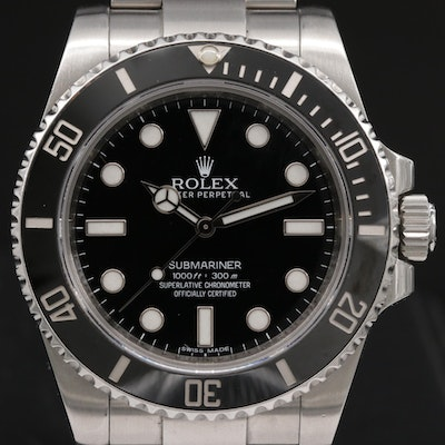 Rolex Submariner No Date 114060 Stainless Steel Automatic Wristwatch