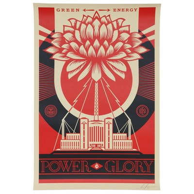 "Shepard Fairey Offset Poster ""Green Power"", 2020"