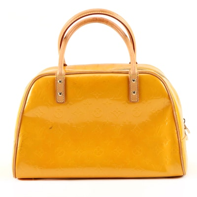 Louis Vuitton Tompkins Square Top Handle Bag in Monogram Vernis