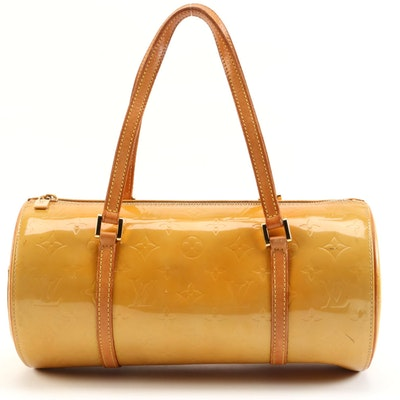 Louis Vuitton Bedford Satchel in Monogram Vernis and Vachetta Leather