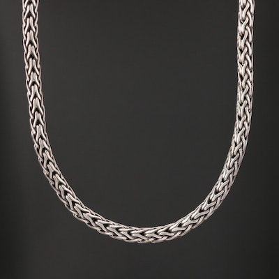 Sterling Silver Wheat Link Necklace