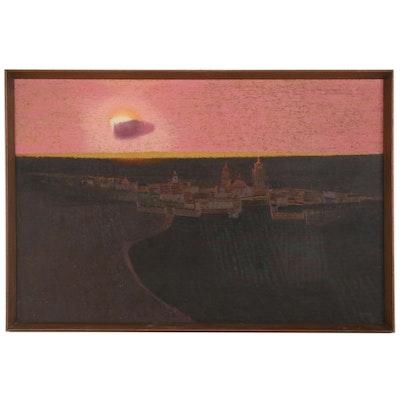 """Mario Larrinaga Oil Painting """"Cielo Mexicano"""""""